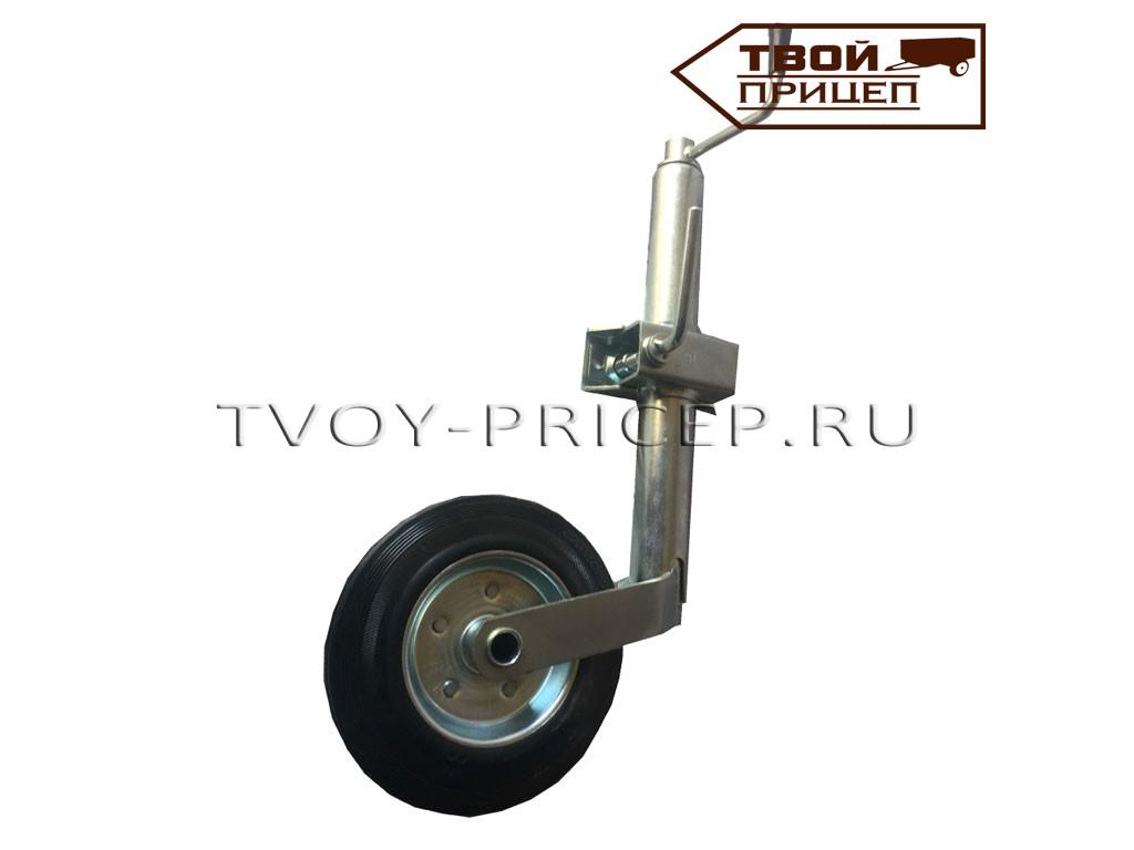 Опорное колесо в комплекте с хомутом крепления к дышлу прицепа